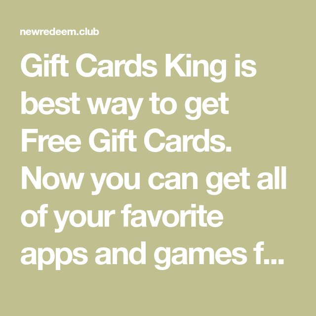 Photo of Gift Cards King is best way to get Free Gift Cards. Now you can get all of your …