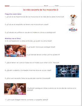 La Vida Secreta De Tus Mascotas 2 The Secret Life Of Pets 2 In Spanish In 2020 Secret Life Of Pets Secret Life Pet Health Care
