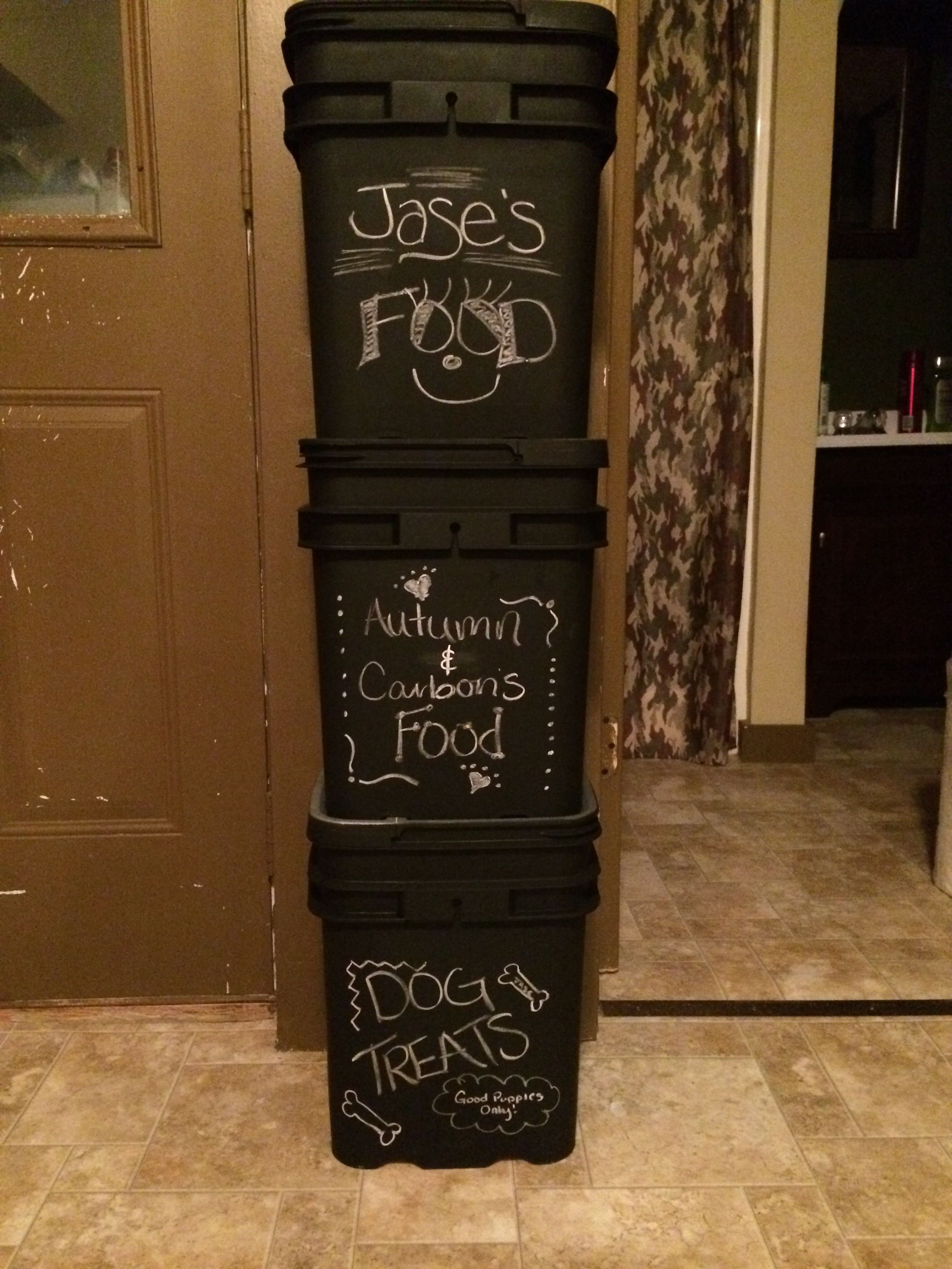 Attirant Repurpose Cat Litter Containers With Chalkboard Paint
