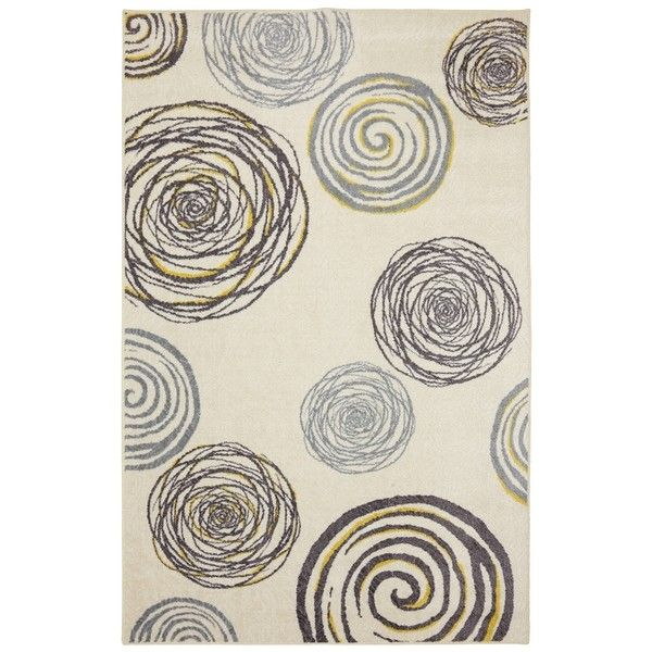 Gray And Yellow Swirls Area Rug 8x10 160 Liked On Polyvore