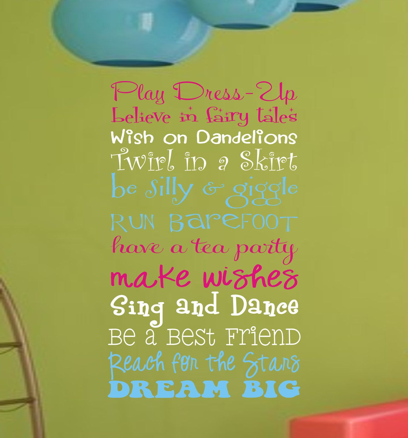Girls Playroom Wall Decal, Childrens Playroom Wall Art, Childrens ...