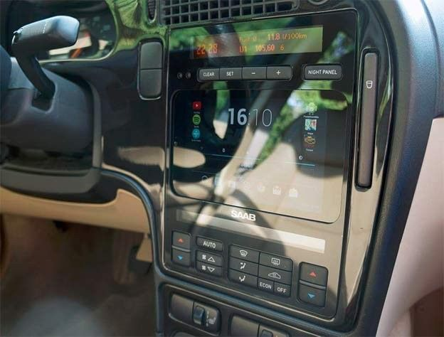 New Saab 9 5 Product Seamlessly Integrates Tablet And Stereo Installations Saab Installation Tablet