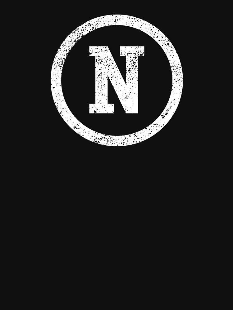 Letter N Tshirt N Initial Letter Monogrammed Vintage Varsity Tee N Design Women S T Shirt Varsity Letter N Lett In 2021 Monogram Letters Lettering Initial Letters