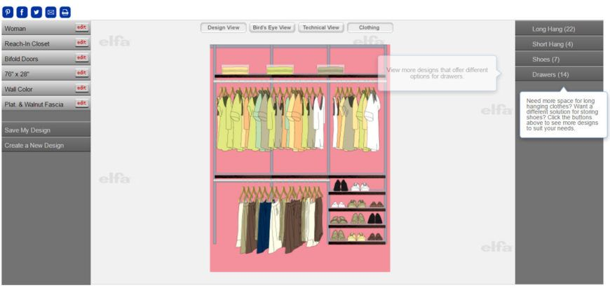 When You Look At Reach In And Walk In Closet Designs It Sure Looks Pretty Easy To Come Up Closet Design Software Online Closet Design Interior Design Software