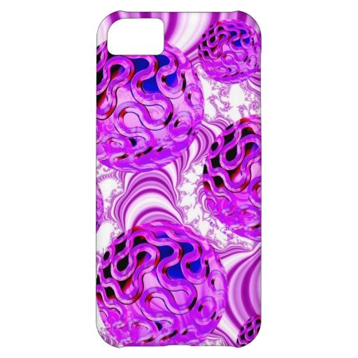 Raspberry Swirl, Abstract Fractal Violet Sherbet Cover For iPhone 5C