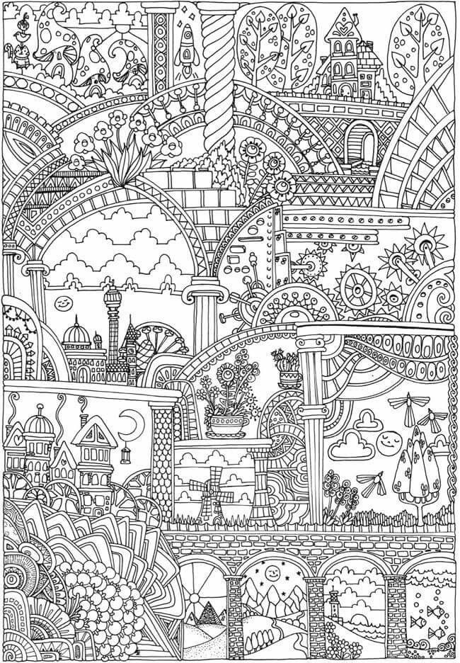 Adult Coloring Pages, Mandala, Scene, Paper Crafts, Adult Colouring Pages,  Paper Crafting, Mandalas, Papercraft