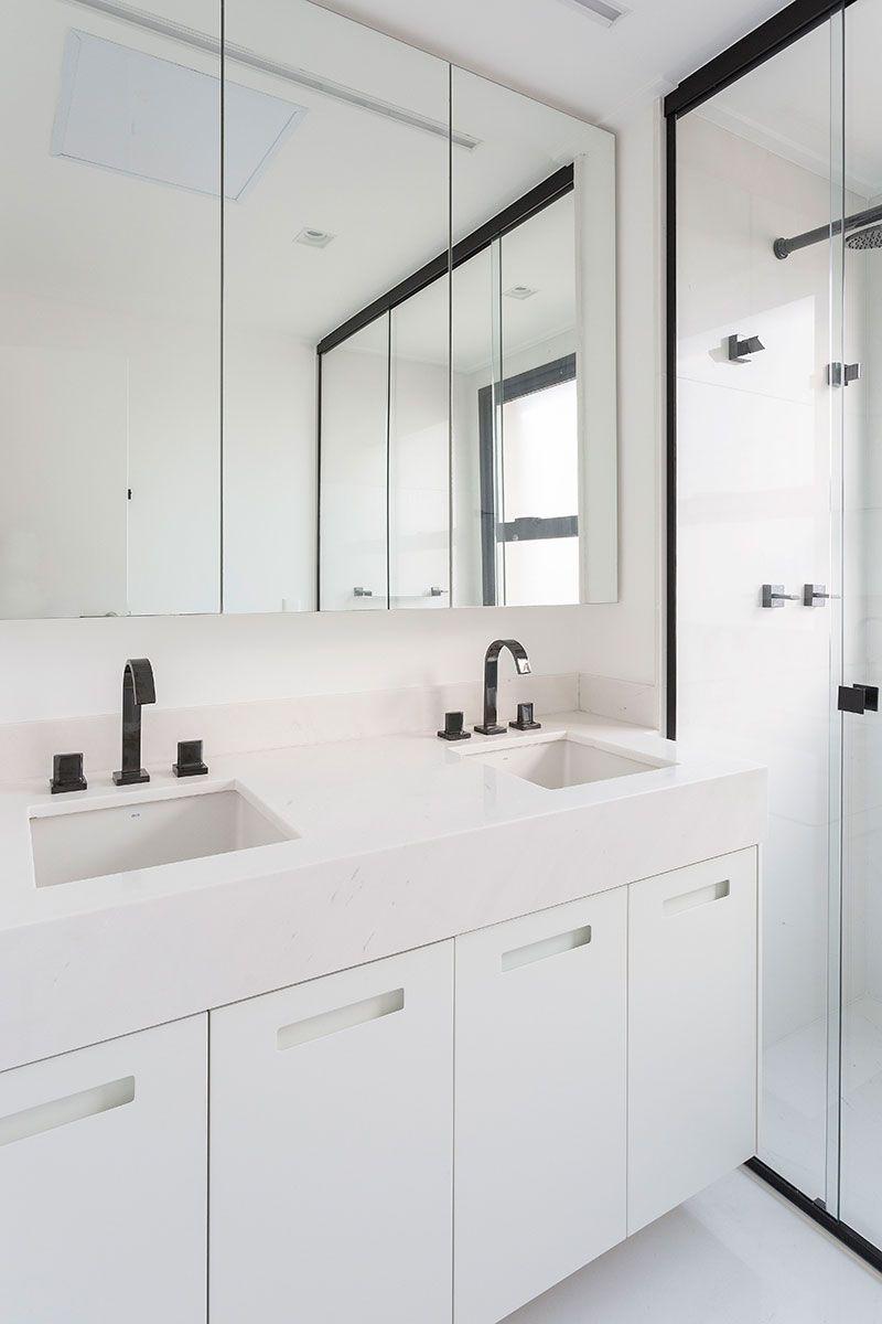 Inspirado No Estilo Nordico Armario Espelho Banheiro Banheiros