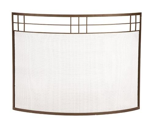 Arts & Crafts Curved Fire Screen