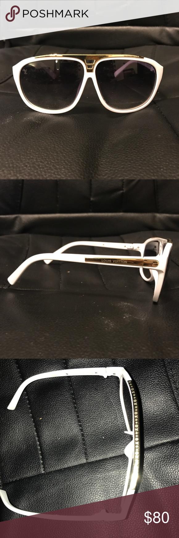 b5e8a6e0537e LV Sunglasses Men s White Evidence Louis Vuitton LV Sunglasses Men s White  Evidence Louis Vuitton Accessories Glasses