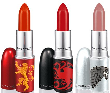 Game of Thrones for MAC lipsticks