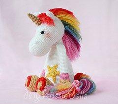Patrón amigurumi gratis de accesorios para el unicornio arco iris. Espero que os guste tanto como a mi! OJO!! el patrón es de pago, estos son sus accesorios!! Idioma: Inglés Visto en la red y colga…