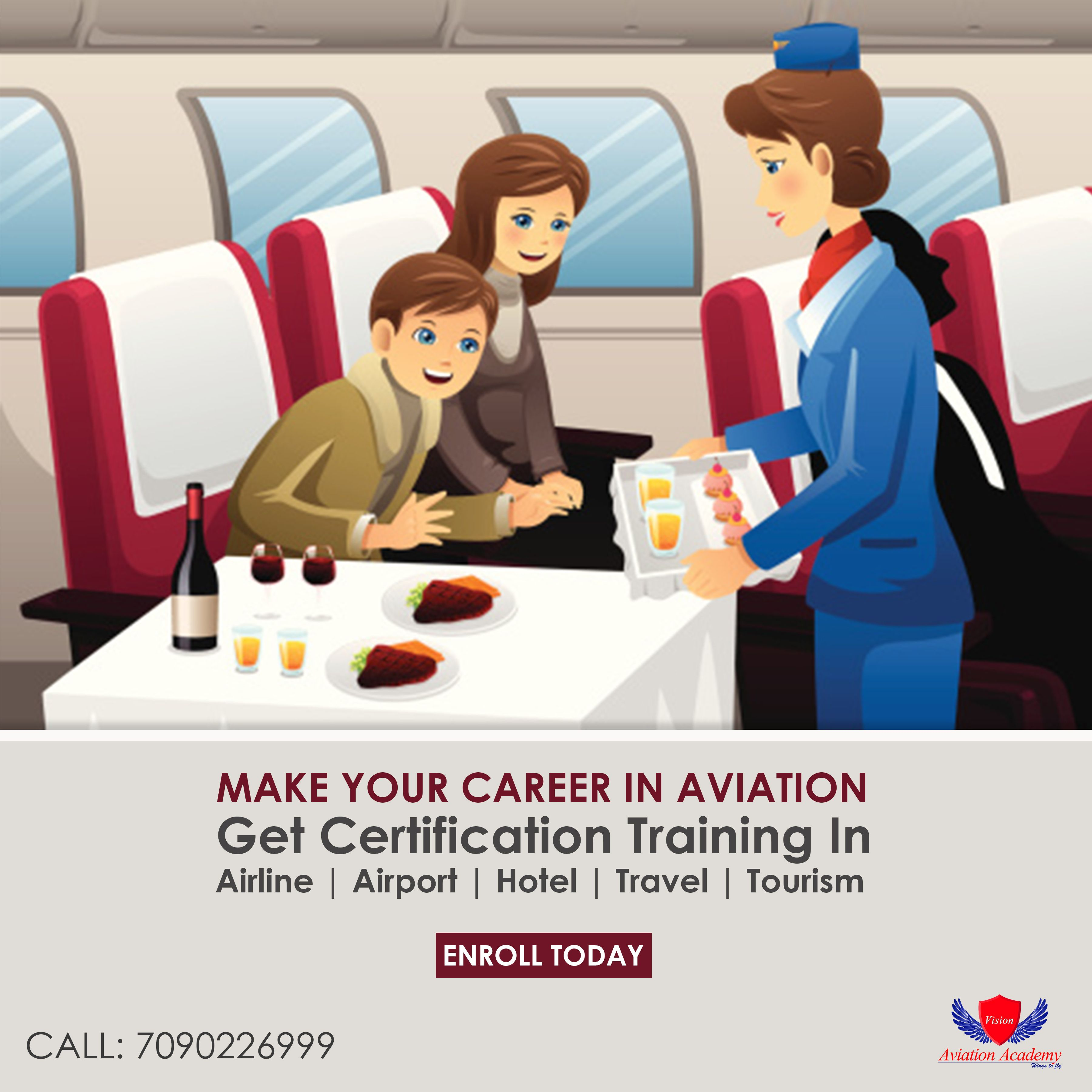 make your career in aviation get certification training in make your career in aviation get certification training in airline airport hotel travel tourism placement assistance call 7090226999