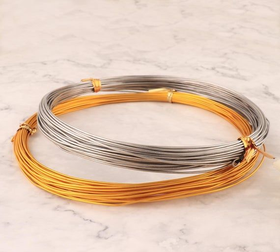 Aluminum wire silver,gold color metal craft line jewelry making DIY, 10-20-30-40 m,18 Gauge(1.0 mm)Materials:Aluminum,metalcolor: silver,gold colorsize:  18 Gauge (1.0 mm)length:  10,20,30,40 mPlease allow 1-2 mm differs due to manual measurement.Due to the different display and different light, the picture may not reflect the actual color of the item.Thanks for your understanding.we ready to ship in 1–3 business days . Shipping time need 15-30 working day!please allow 5-10 days delay, sometimes