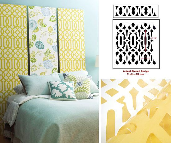 Tons of headboard ideas... from upholstered ones to long pieces of ...