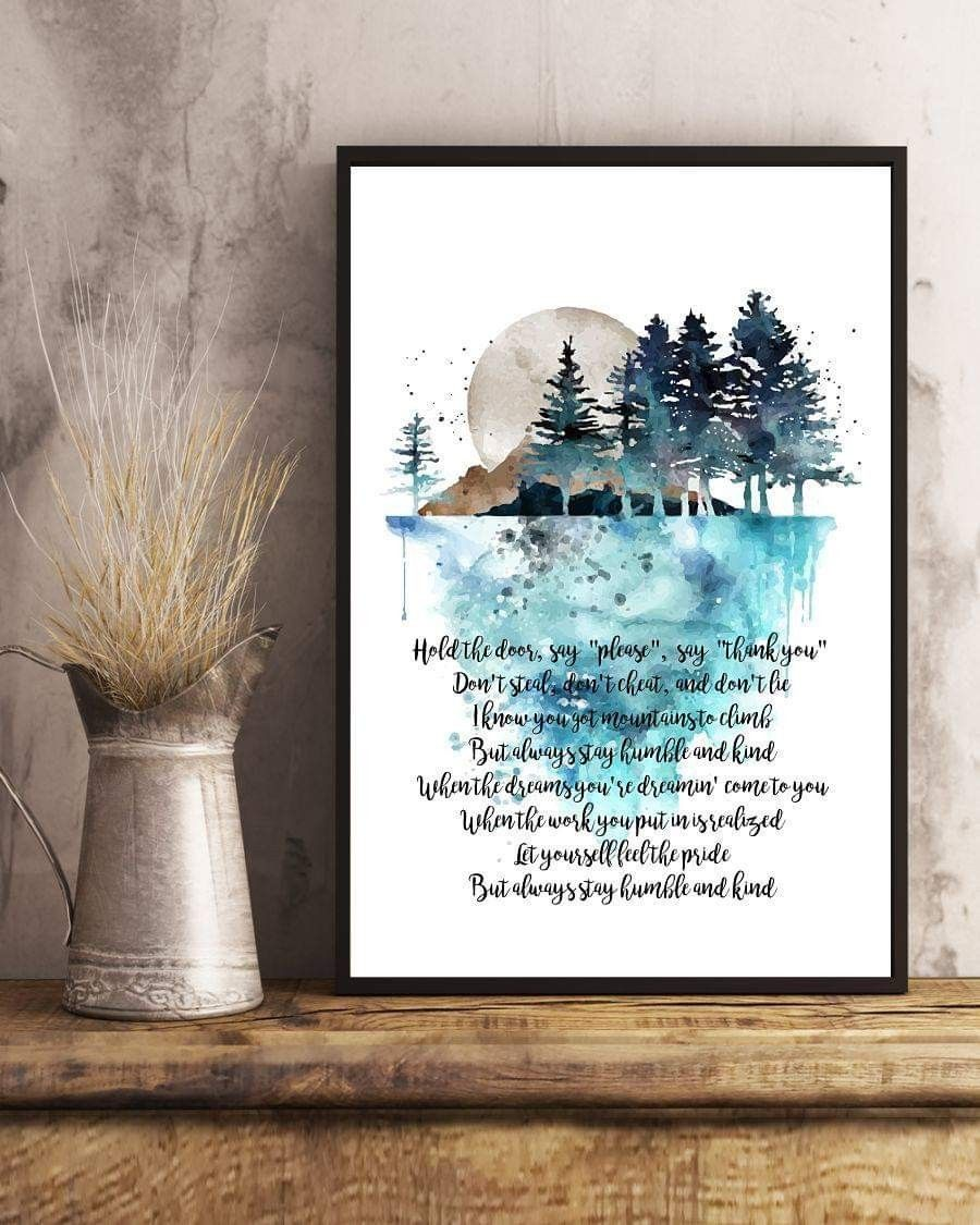Pin By Joy James On Music Canvas Frame Lyric Poster Humble