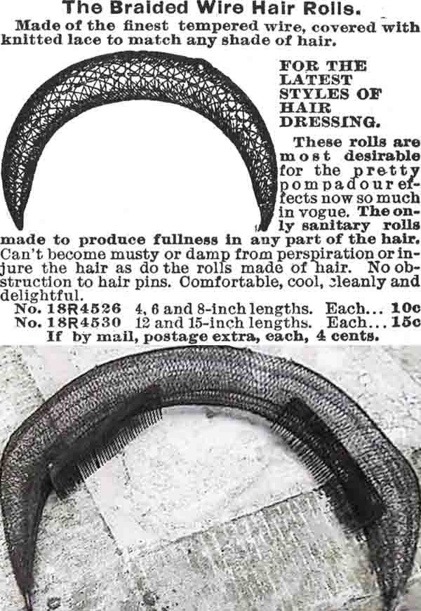 DIY Wire Hair Rat For The Perfect Edwardian Pompadour - Sew Historically