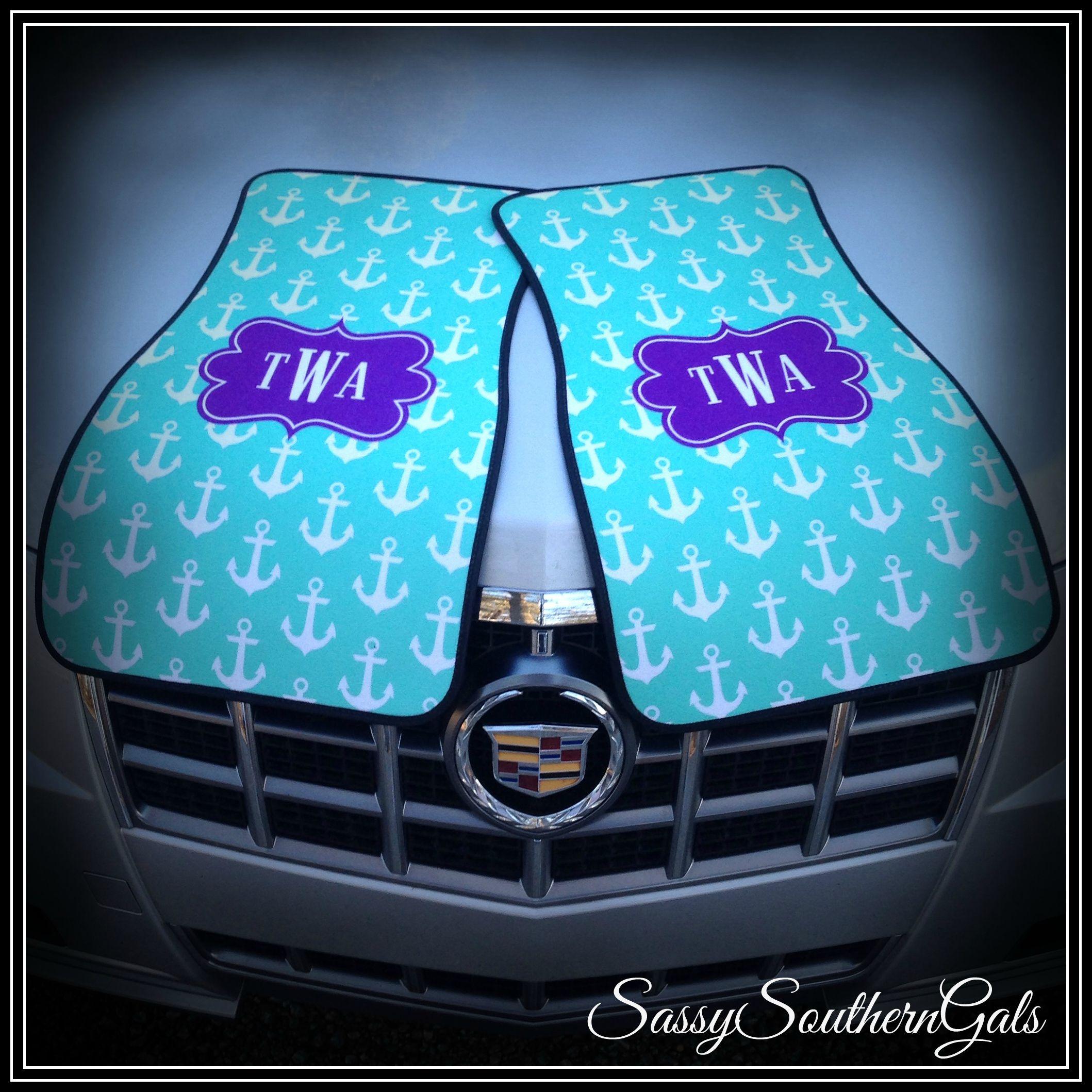 Car Mats Monogrammed Personalized Car Mats In 2020 Cute Car Accessories Preppy Car Accessories Personalized Car Mat