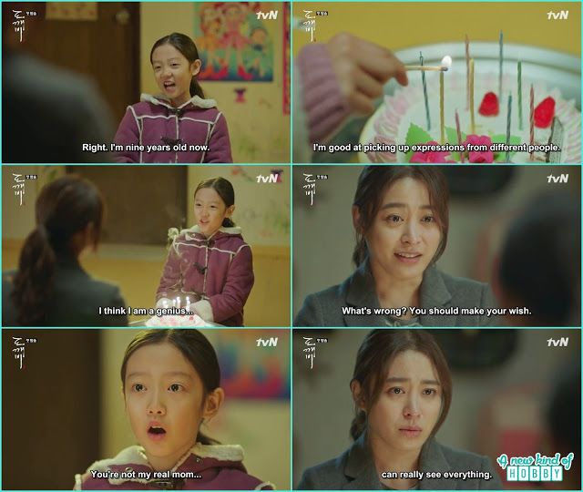 eun tak on her birthday was happy but after blowing the candles she knew its not her mother but the mother soul - Goblin - Episode 1 (Eng Sub)