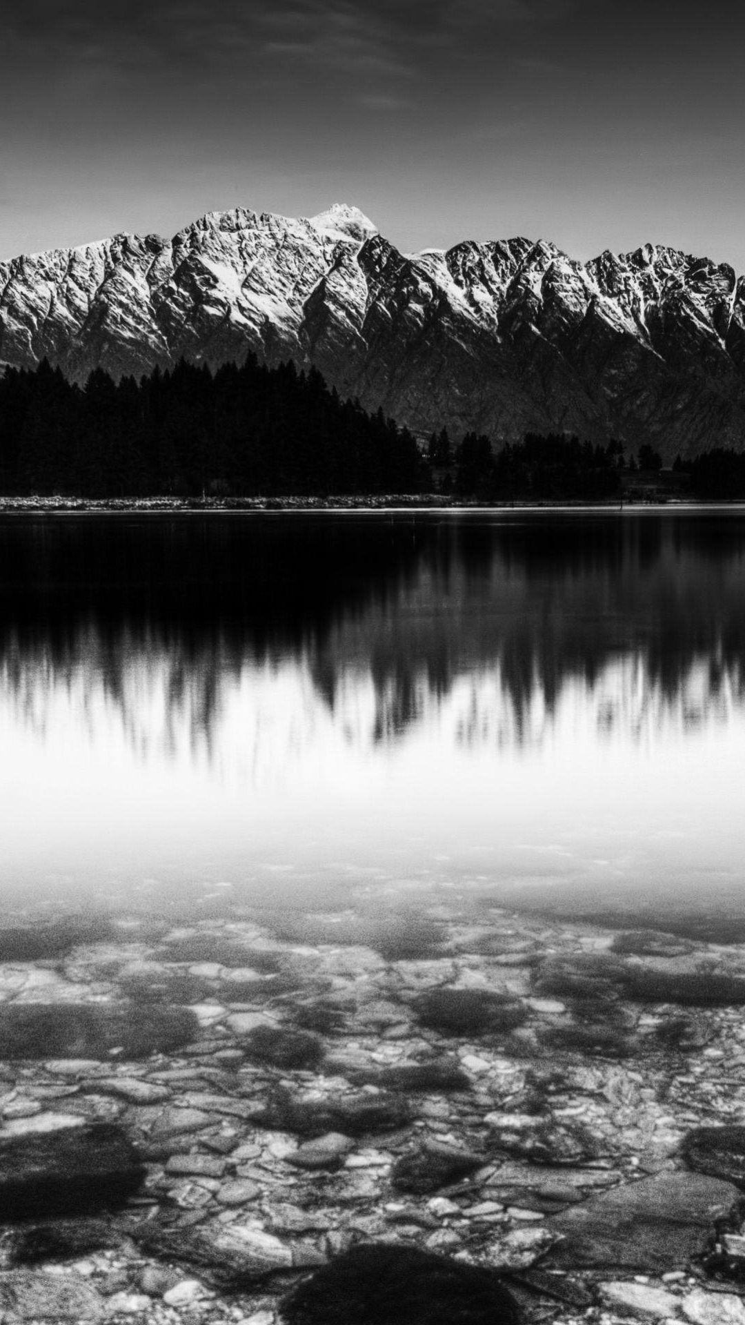 Black And White Snow Mountain Lake Iphone 6 Plus Hd Wallpaper Cuteiphonewallpap Black And White Wallpaper Iphone Nature Iphone Wallpaper Iphone Wallpaper Sky