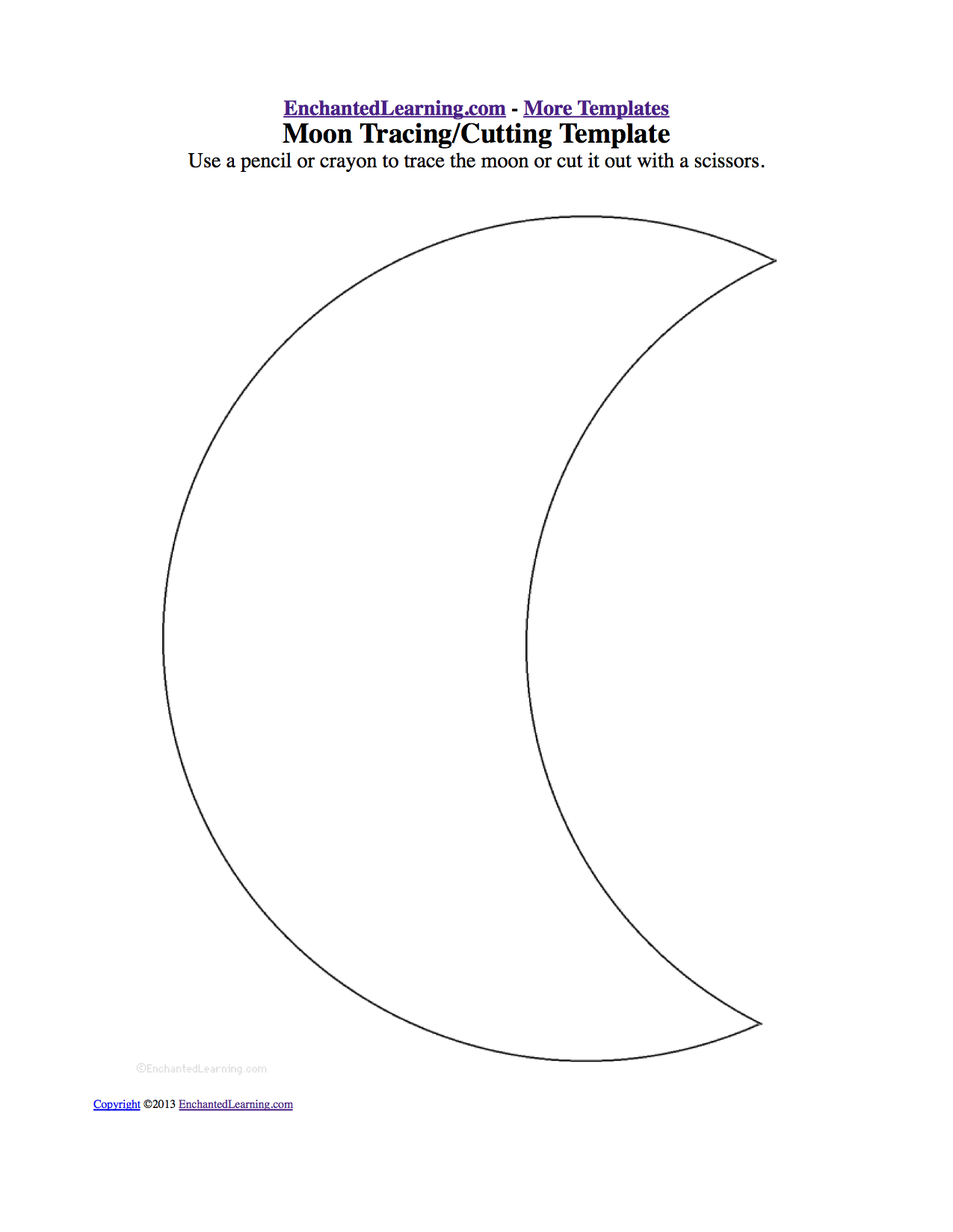 Moon Cutout