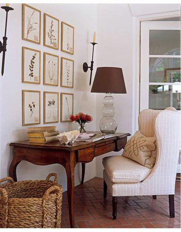 lovely living room desk | Relaxed Style in Austin | Design | Antique desk, Desk ...