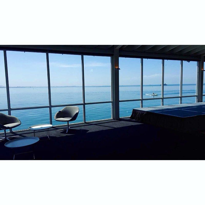 The calm before the storm!! So beautiful and still on the water this morning as we prepare for another busy day of events!  #functions #coriobay #geelongwaterfront #oceanviews  #lilliasroom #lovegeelong by thepiergeelong http://ift.tt/1JtS0vo