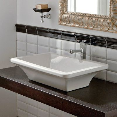 Scarabeo by Nameeks Butterfly Ceramic Specialty Vessel Bathroom Sink