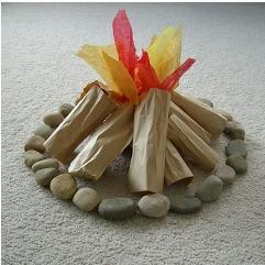 """Indoor """"camp fire"""" :)"""