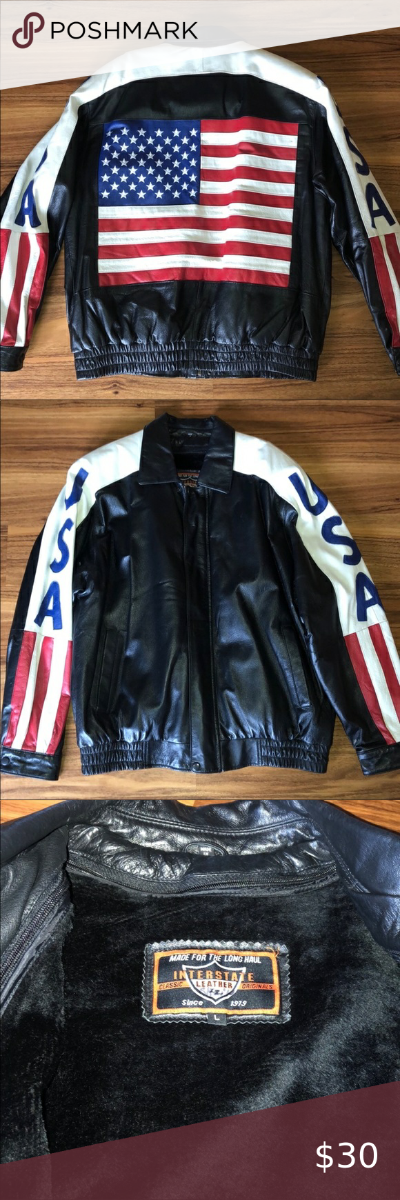 Interstate Leather Motorcycle Usa Jacket Jackets Genuine Leather Jackets Clothes Design [ 1740 x 580 Pixel ]