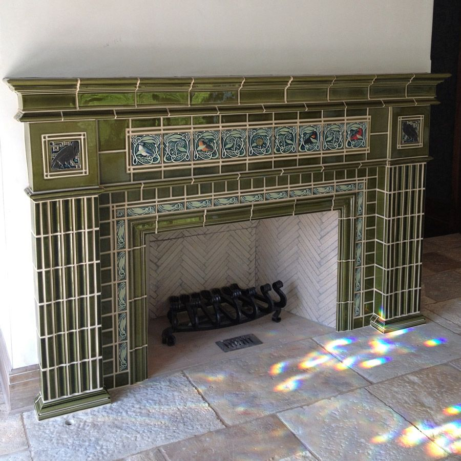 sources for arts u0026 crafts tile craftsman fireplace glazed tiles