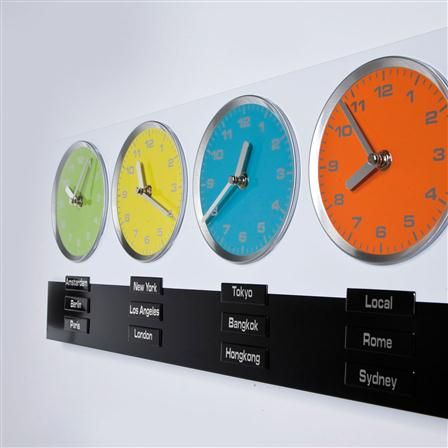 Time Zones Wall Clocks Easy Home Decorating Ideas