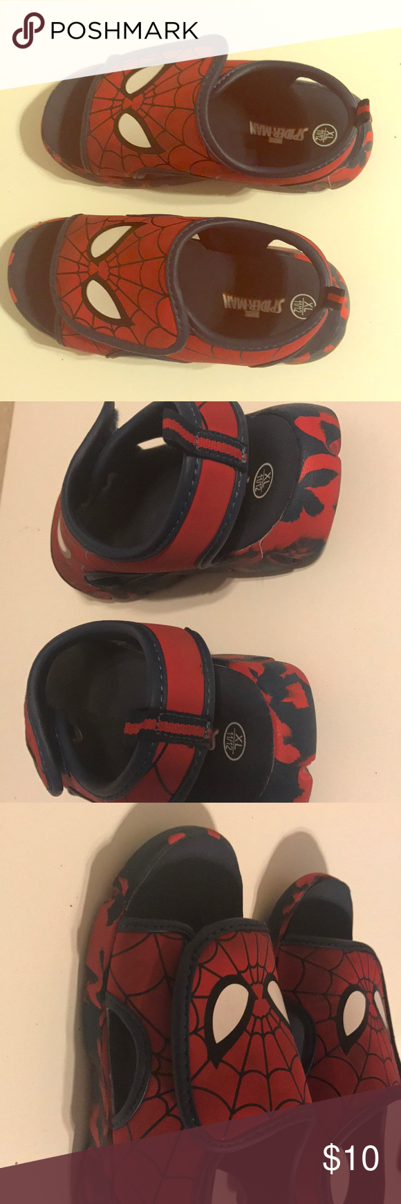 Spider-Man sandals Spider-Man Velcro sandals. Easy to put on and comfortable