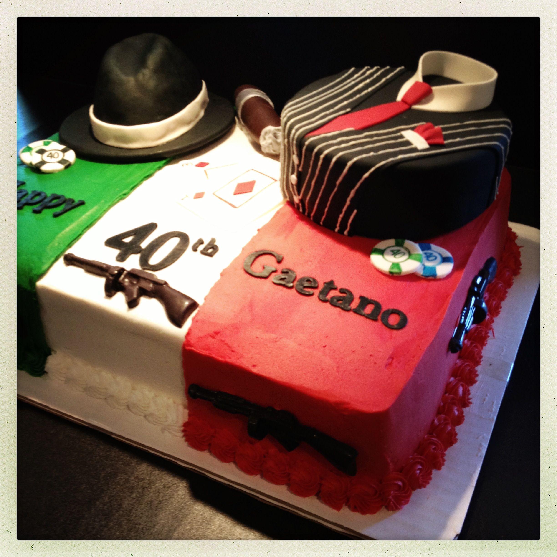 Roaring 20's Gangster Themed Cake! Www.takesthecakeil.com