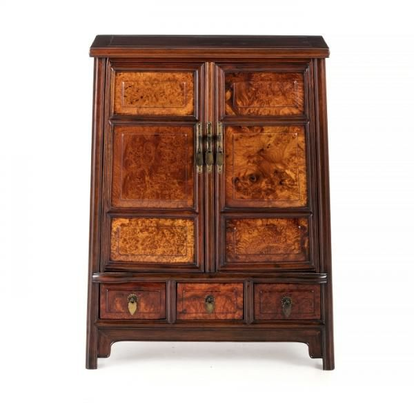 Small chinese cabinet in hongmu - China, 20thC, carved hongmu and ...