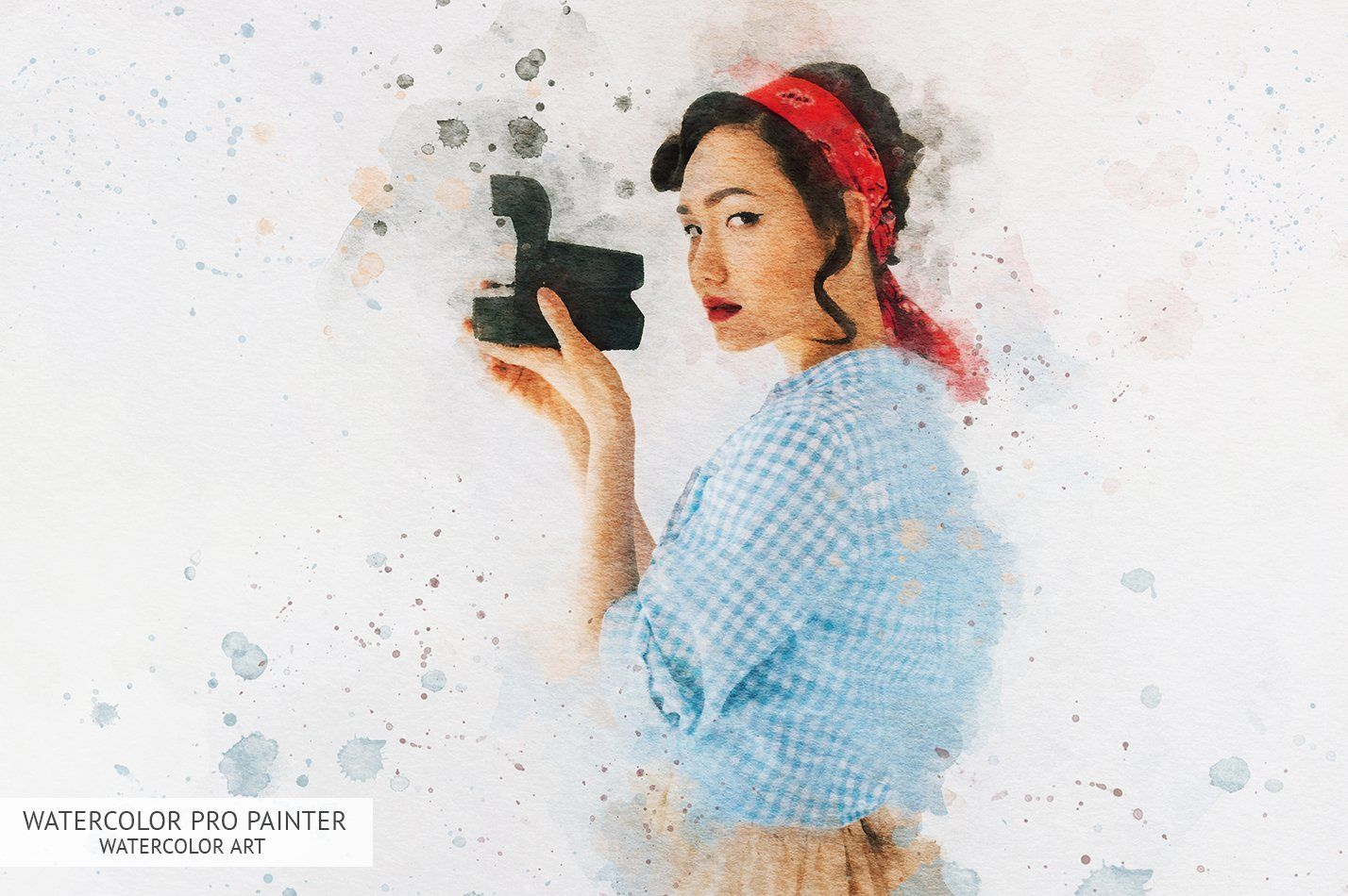 Watercolor Painter Photoshop Actions Ad Ad Patterns
