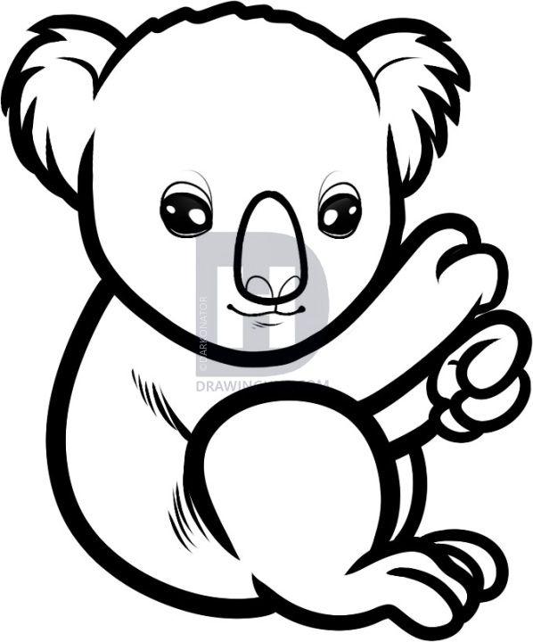 How To Draw A Baby Koala Baby Koala Step Koala Bear Drawing Bear Drawing Baby Koala Bear Coloring Pages