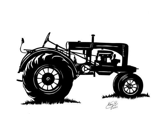 31+ John deere tractor clipart black and white info