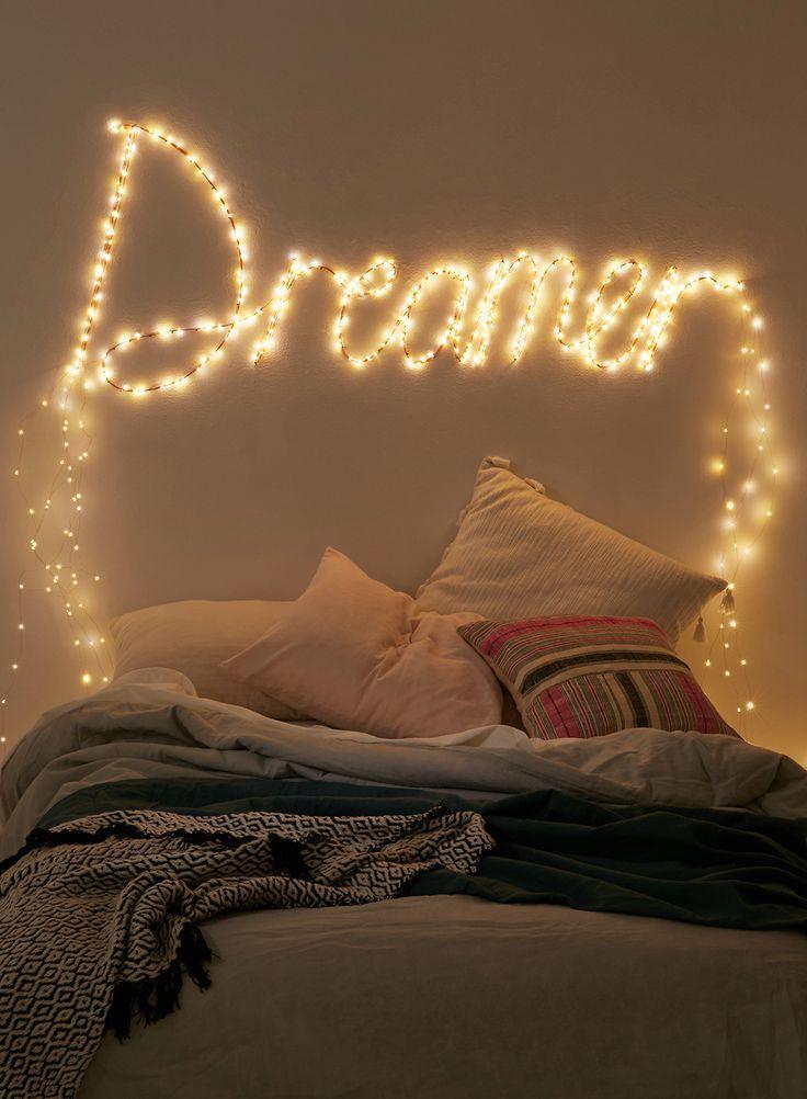 Dormitorio Decorado Con Luces Decoracion De Habitacion Juvenil Decoraciones De Dormitorio Dormitorios