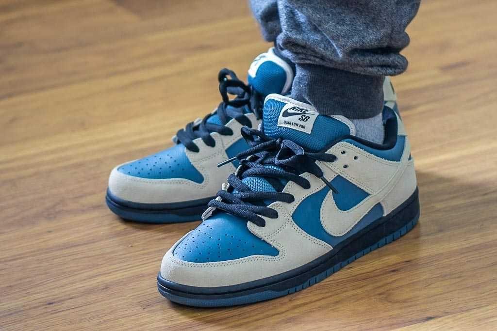 Nike SB Dunk Low Light Cream On Feet Sneaker Review