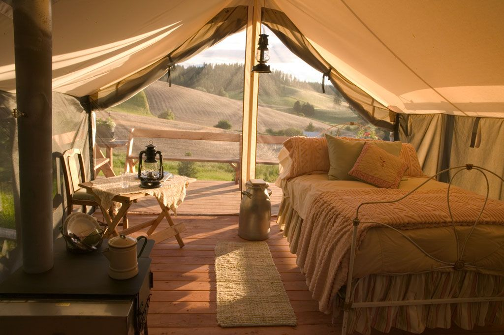 Summer/Autumn spaces. Luxurious living options.   Tents from the Colorado Yurt Company.
