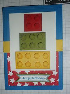 Christie S Creative Corner Lego Birthday Cake Card With Images Lego Card Birthday Cake Card Kids Cards