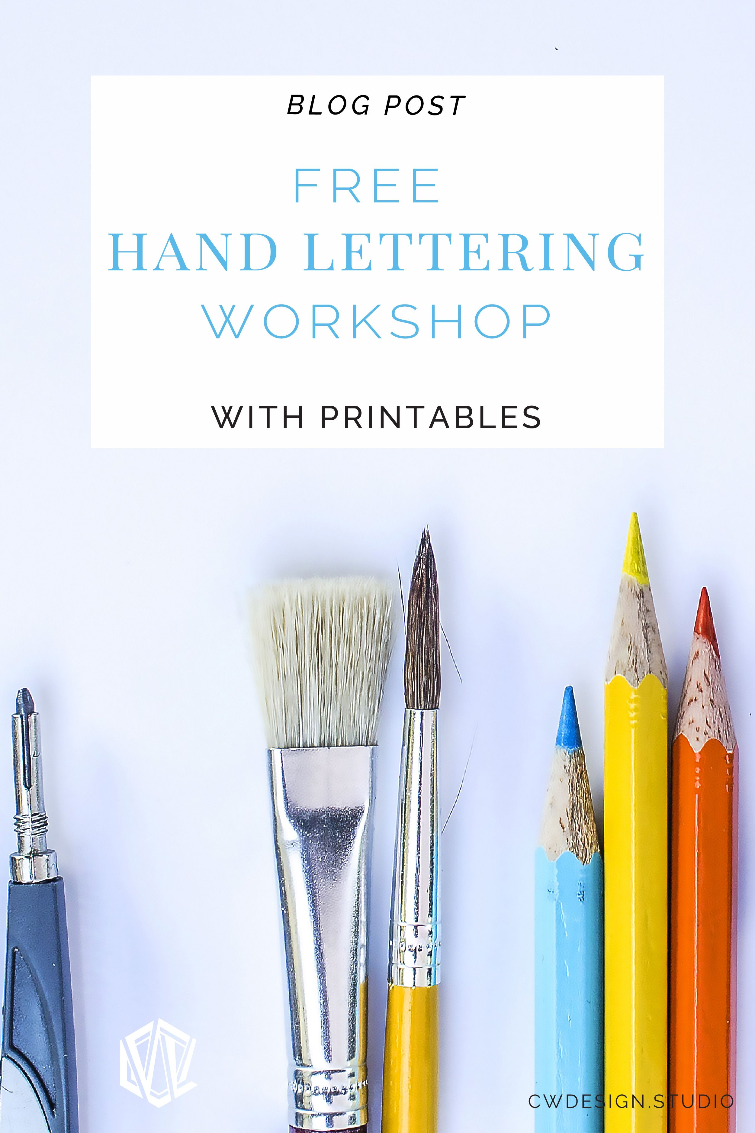 Free Hand Lettering Workshop Video Follow-Along with Printables ...