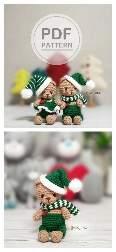 Amigurumi Doll And Animal Bear Santa Claus Free Crochet Patterns - Amigurumi Fre...