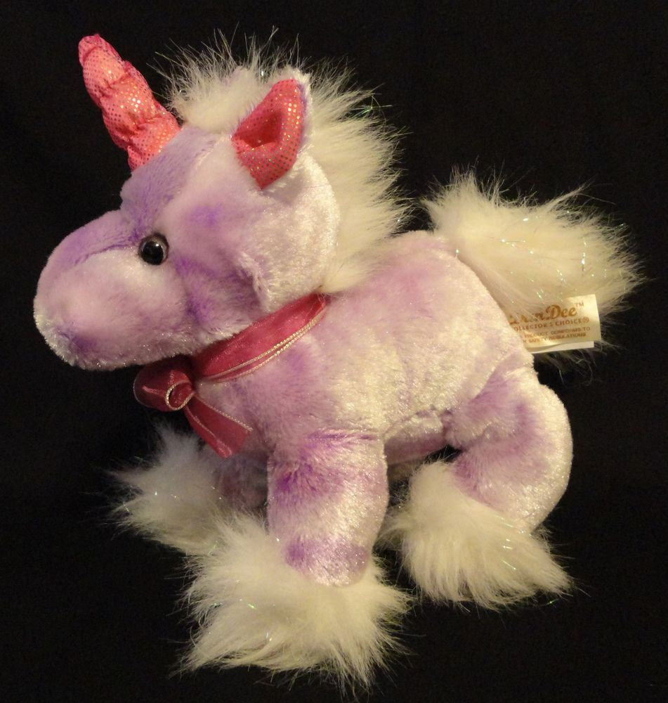 7 Inch Tutti Frutti Purple Pegasus Plush Stuffed Animal by Aurora
