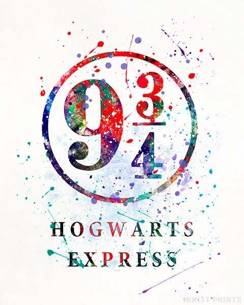 9 3 4 Harry Potter Watercolor Wall Art Poster Prices From 9 95 Click Photo For Details Wallpaper Harry Potter Memes Do Harry Potter Cartaz Harry Potter