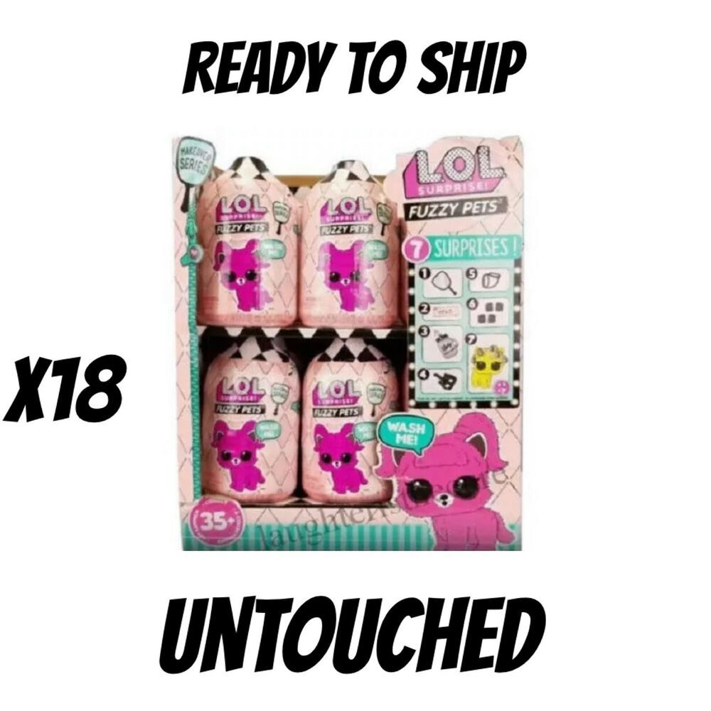 18 Lol Surprise Fuzzy Pets Makeover Series 5 Full Case Box Wash Me In Hand Affilink Lolsurprise Loldolls Lol Dolls Lol Dolls Pets Lol
