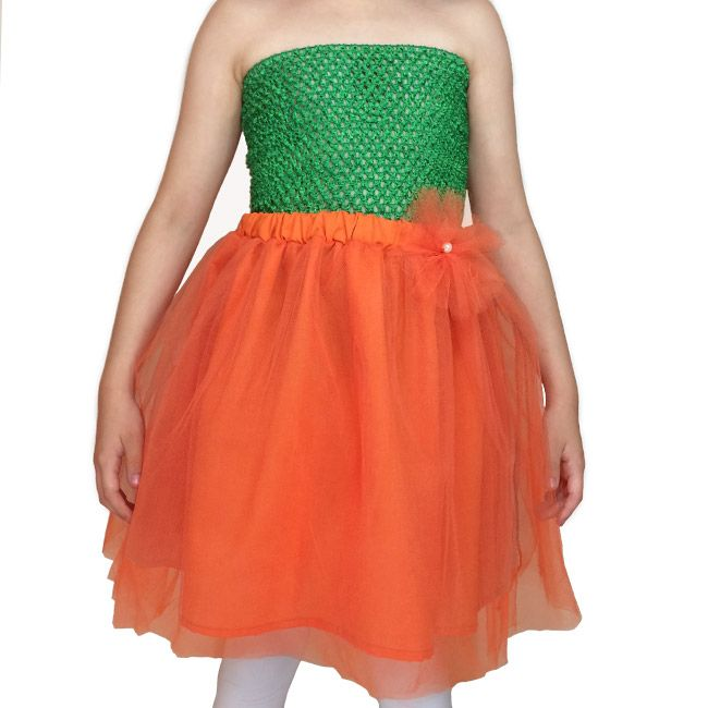 5dc23fde3e Falda tul niña color Naranja