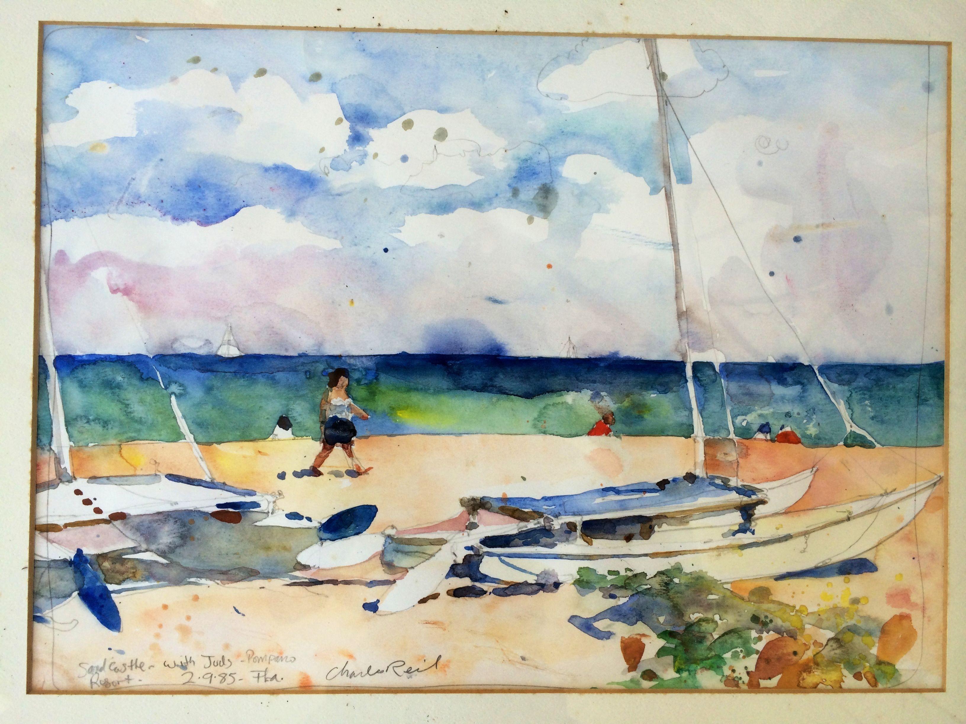 Pompano Florida Watercolor By Charles Reid Charles Reid Artist