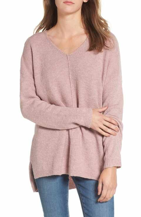 4bca23c7189ac3 Dreamers by Debut Exposed Seam Tunic Sweater