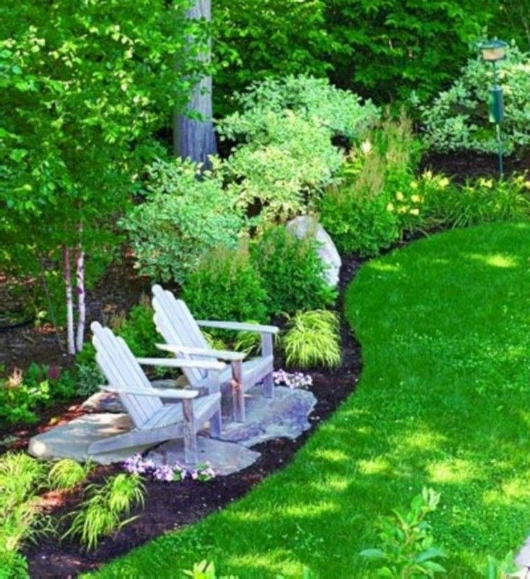 13 Attractive Backyard Landscaping Ideas With Bench Or Seats